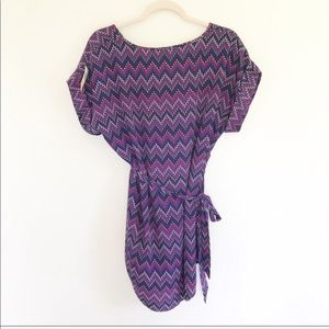 Pixley Tops - NWT Stitch Fix Pixley Purple Patterned Wrap Top
